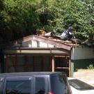車庫を解体します。